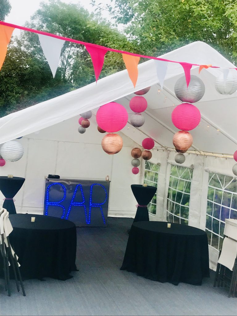 Customised bunting 40th Birthday Party