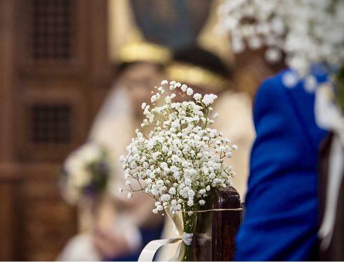Babies Breath, Wedding, Pew end, Religious wedding, The Flower Story London,