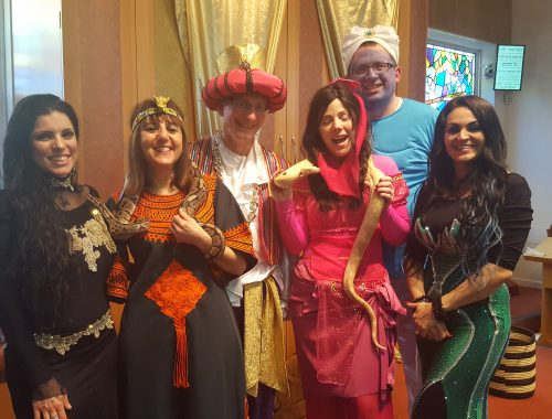 Purim Arabian Themed Party, London Event Planners, themed parties, party planners, event planners, snake charmer, fire breathing parties, fire breather,