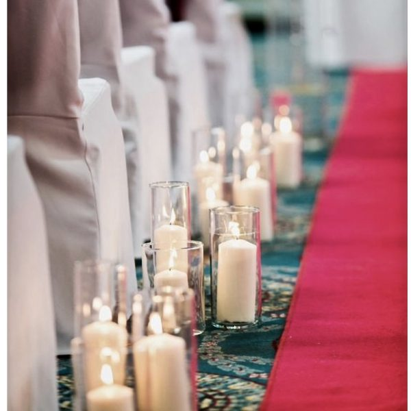 Finishing touches, Aisle decoration, Candle decoration,