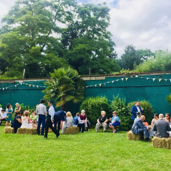 Boston Manor Walled Garden, Boston Manor Wall Garden, Rustic Wedding, Big Games, Hay Bales, Bunting, Floral Bunting, June Wedding