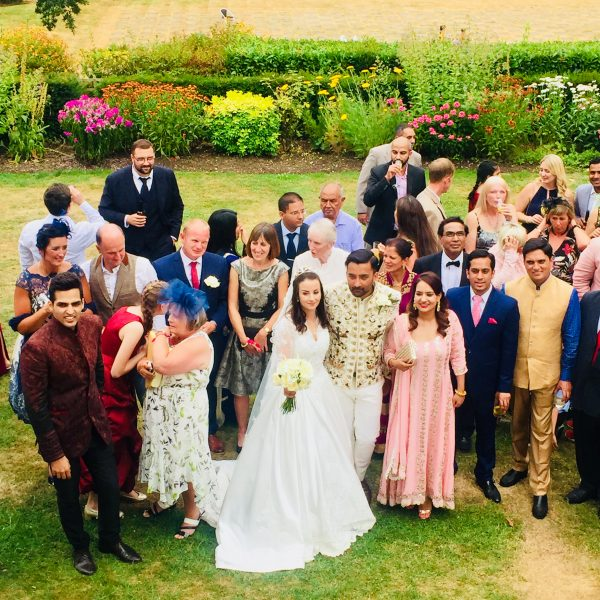 Summer Indian and English Fusion Wedding