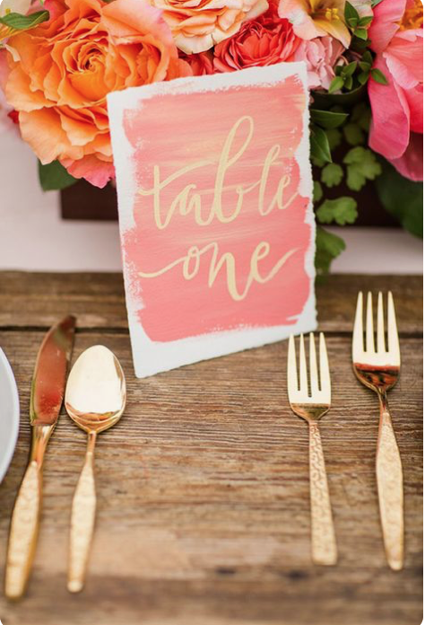 Living Coral Table Setting