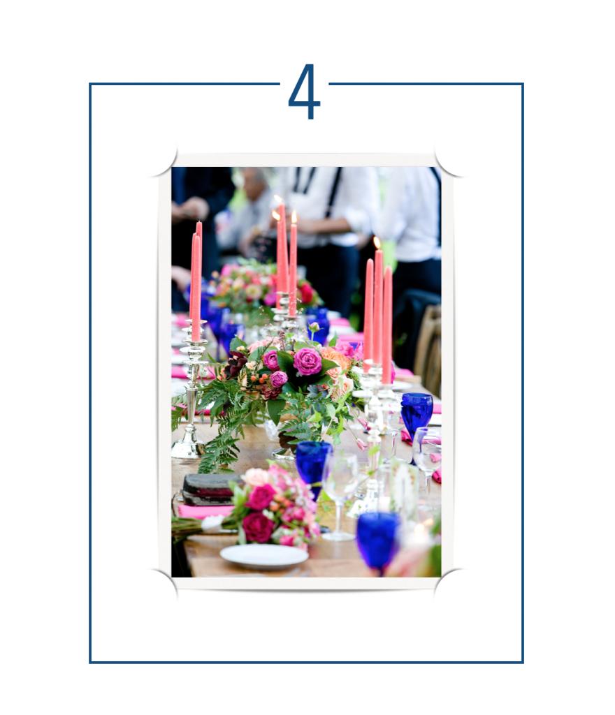 Classic Blue Table Centrepieces