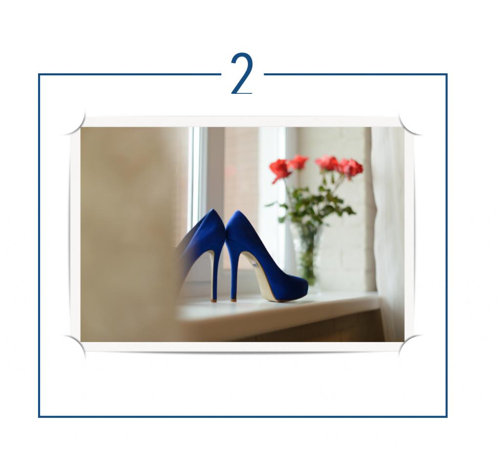 Classic Blue wedding shoes,