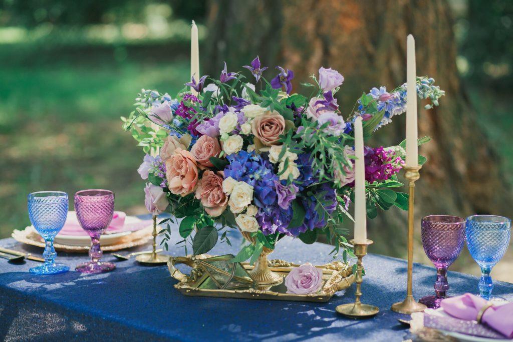 Classic Blue Table Centrepiece