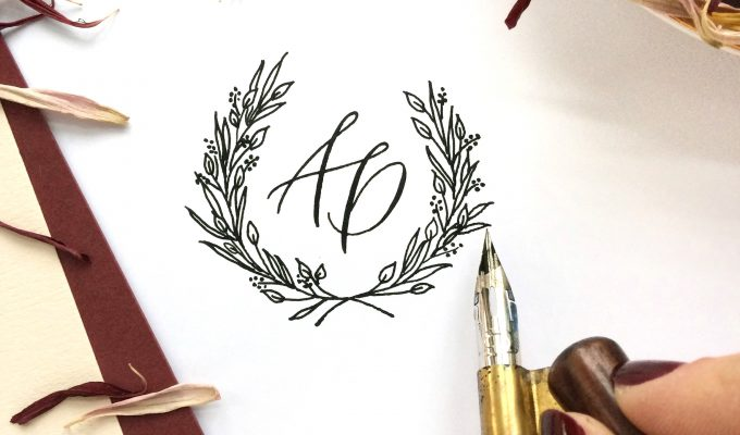 Monogram Calligraphy, Calligraphy in St Albans, Wedding Stationary,