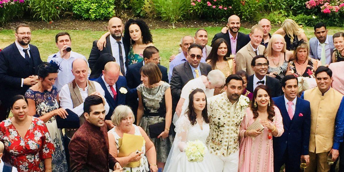 Laura Ashley Manor Hotel Garden Indian English Summer Wedding