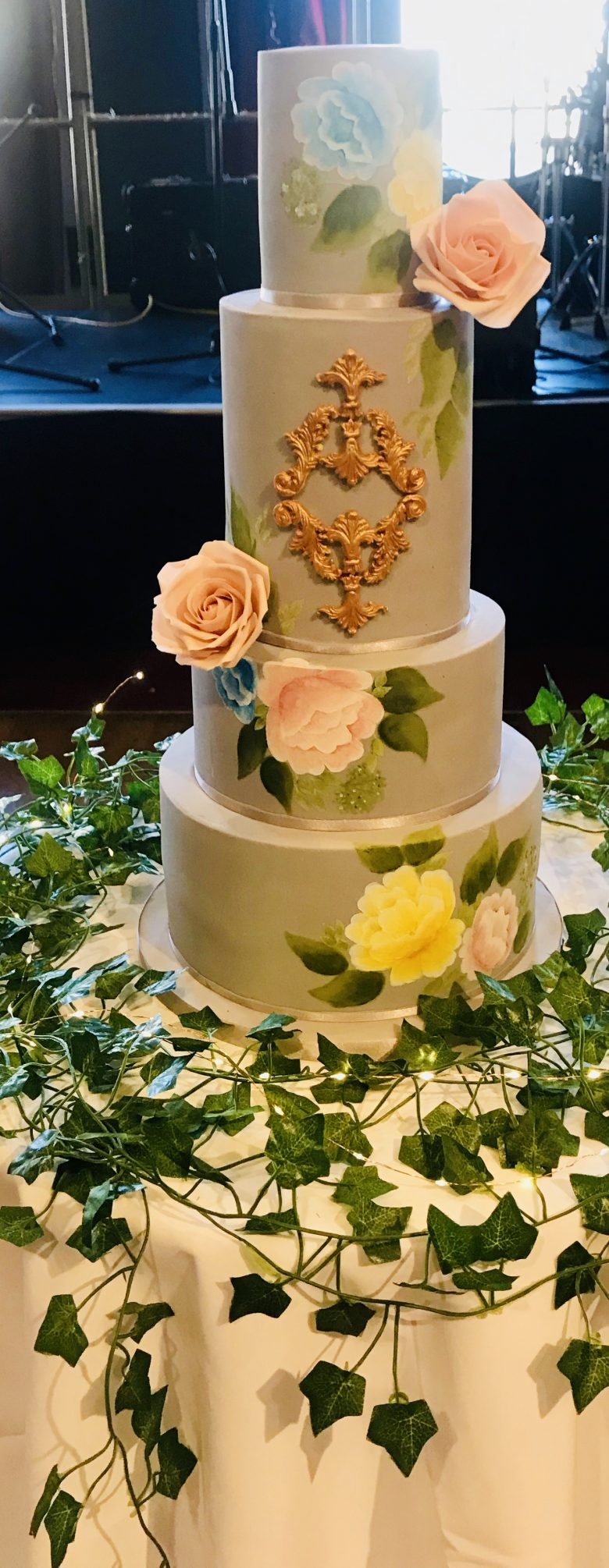 Four tiered vegan wedding cake